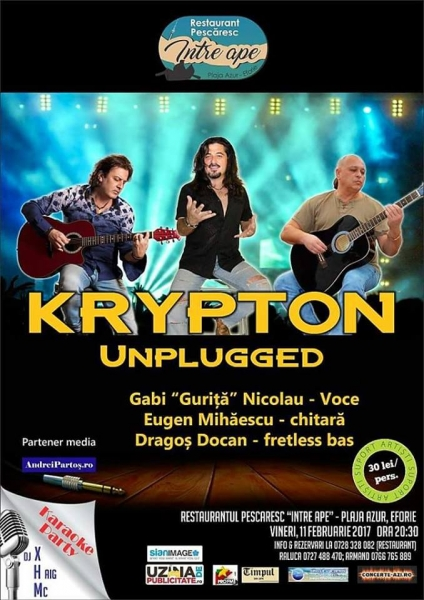 Concert ROCK legendar: KRYPTON Unplugged !