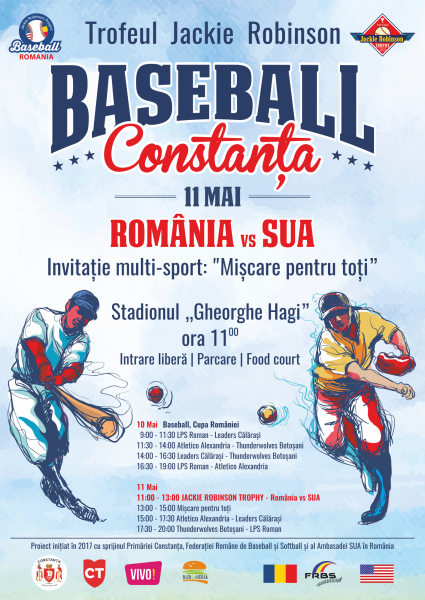 INVITAȚIE EVENIMENT: Baseball- SUA vs România
