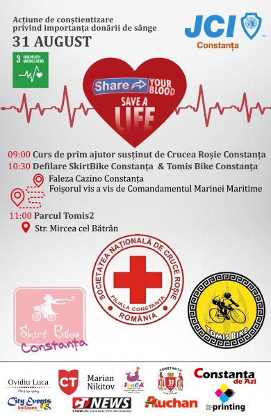 Alătură-te initiativei  -Share Your Blood, Save a Life-!